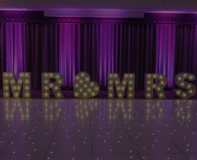 Jam events mood lights led dancefloor chair covers wedding decor